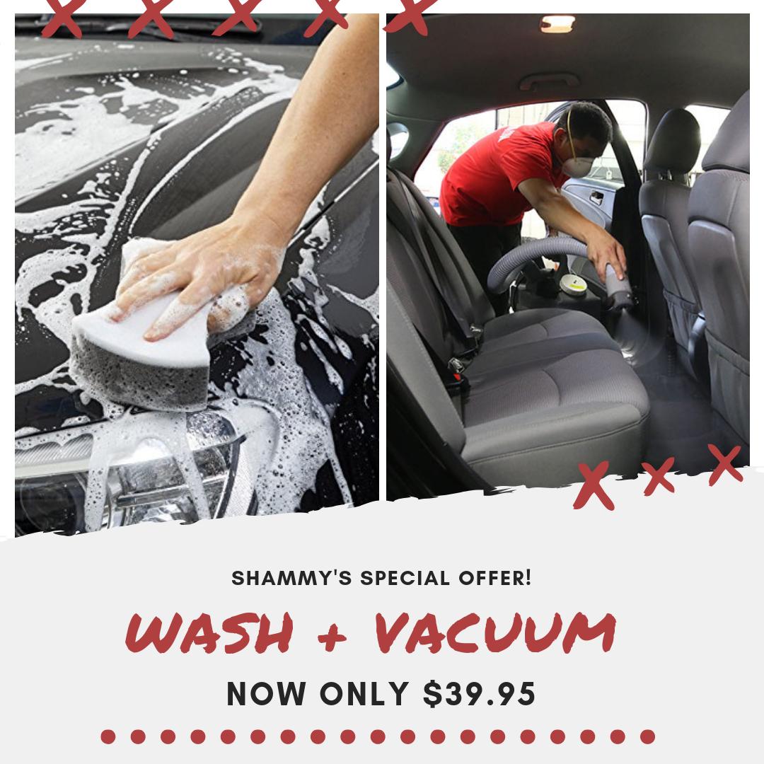WASH + VACUUM